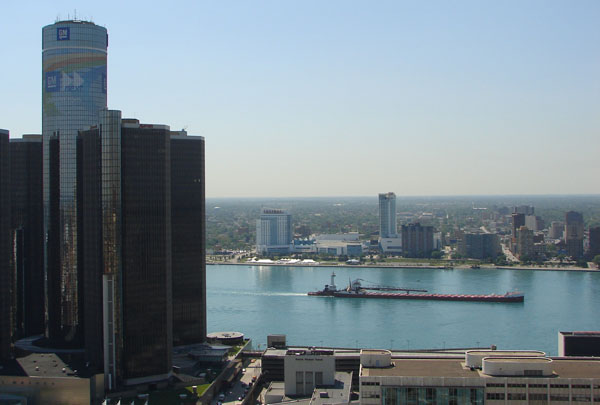 On the Detroit River.