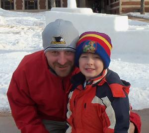 My Grandson and his Daddy!
