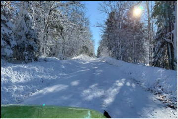 Snow covered route