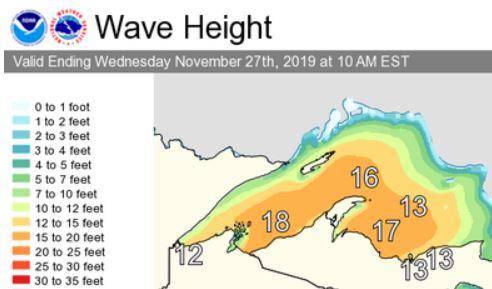 November 27 Morning Wave Height Forecast