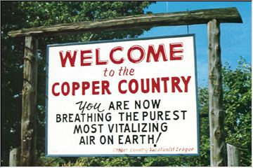 Copper Country air sign!