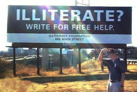 illiterate?