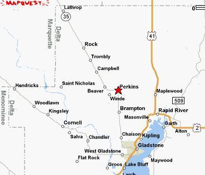 Perkins/Rock map