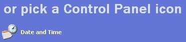 Pick a Control Panel icon