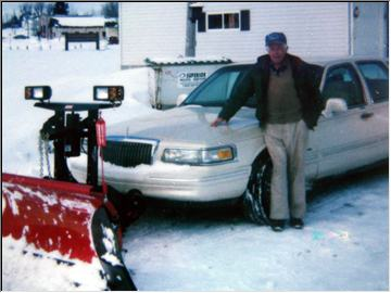 Jack and his Lincoln plow car