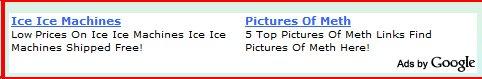 Google ad on pasty site Jan. 24, 2008