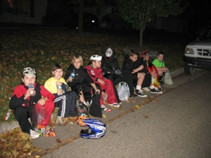 Kids enjoying halloween