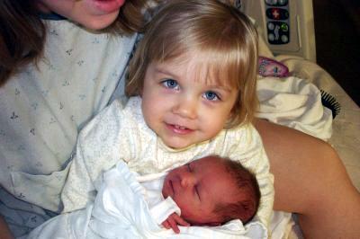 Big sister Emma and Jack