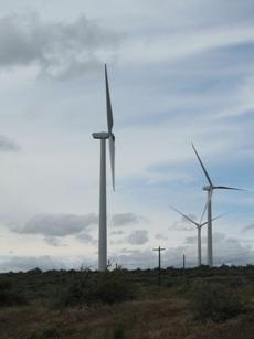 Wind power from the break area
