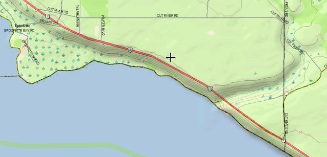 Cut River map