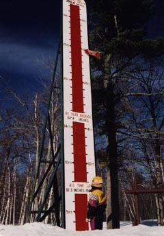 Ye Olde Snow Thermometer with Season-to-Date Pointer