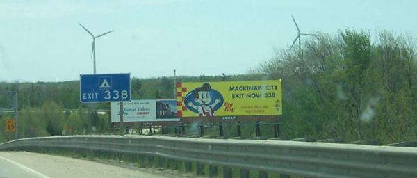 Mackinaw City windmills