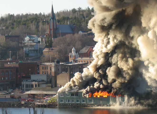 Gundlach Fire in Houghton