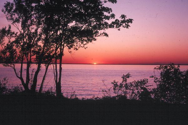 abbaye sunset