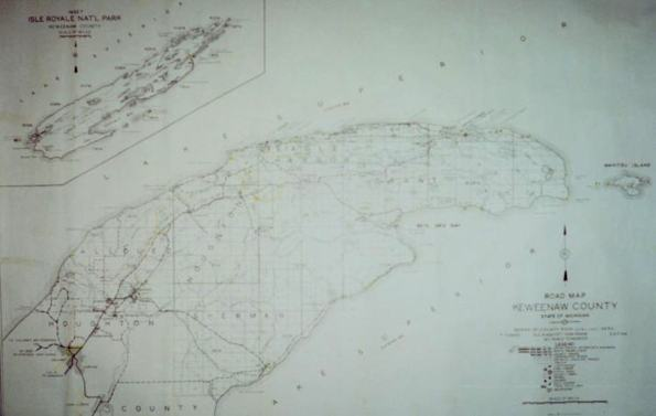 Keweenaw County Map